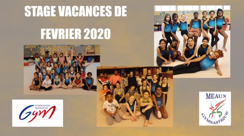 STAGES VACANCES DE FEVRIER 2020