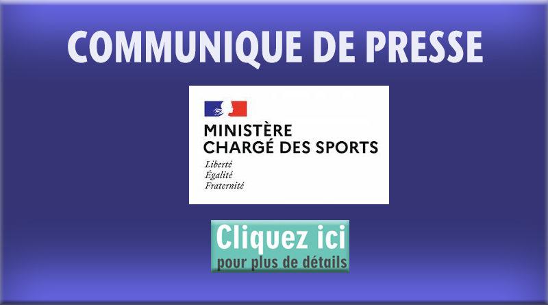 Communiqué de Presse du ministère Chargé des Sports