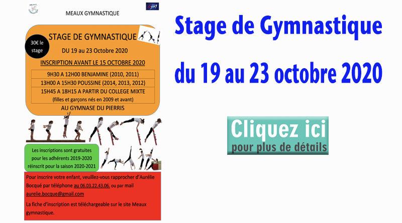 Stage Gymnastique Octobre